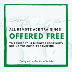 ACE Trainings Free (without testing/certification)