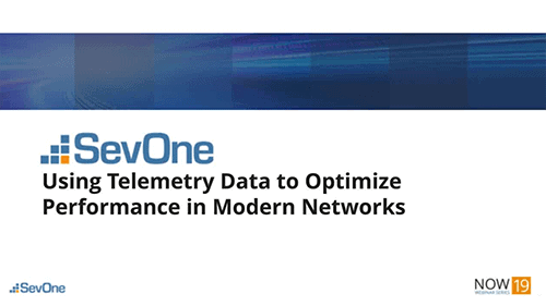 Using Telemetry Data to Optimize Performance in Modern Networks Networks